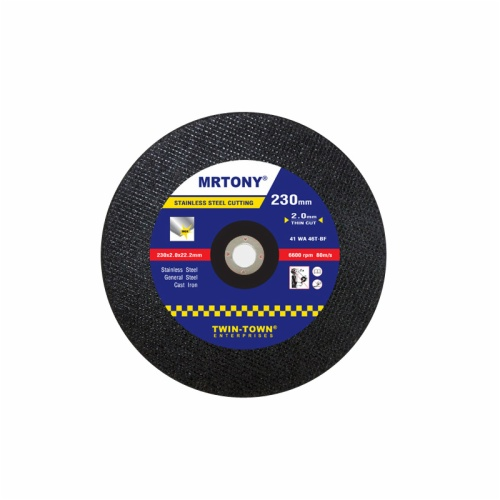230x2x22mm thin cutting disc for stainless steel