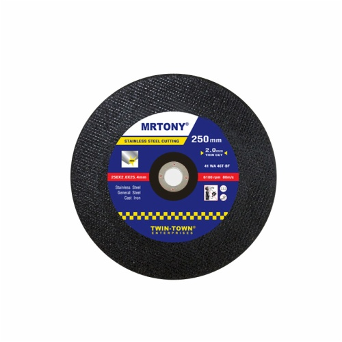 250x2x25.4mm thin cutting disc for stainless steel