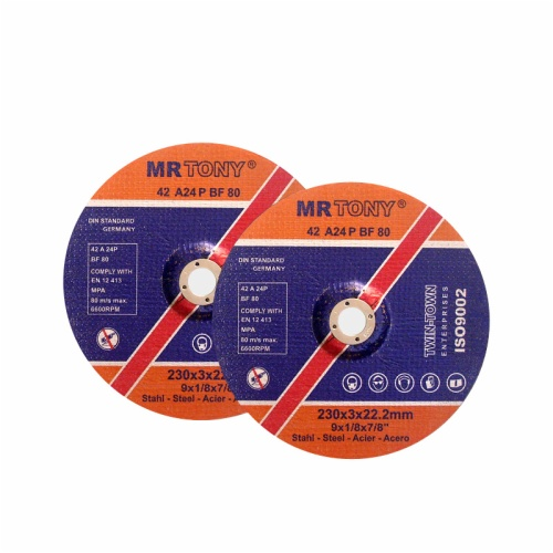 Depressed center cutting disc for metal