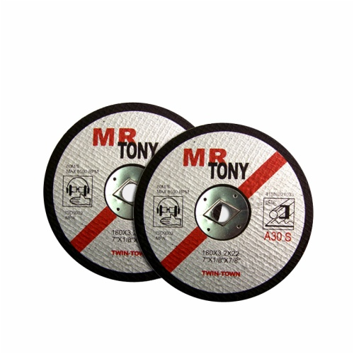 Straight cutting disc for metal