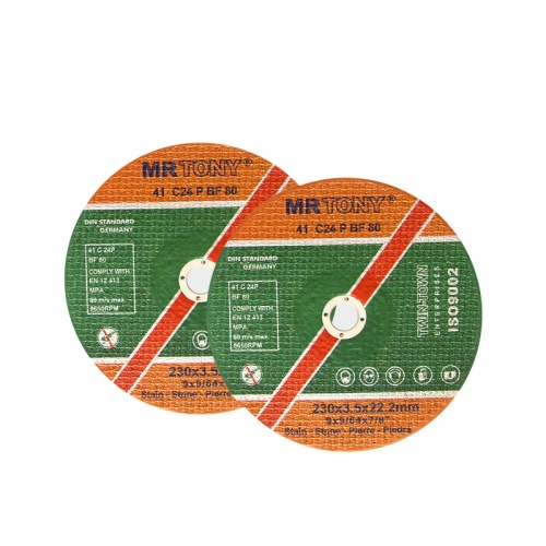 Straight cutting disc for stone